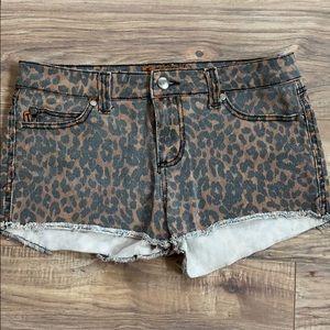 Leopard cut offs